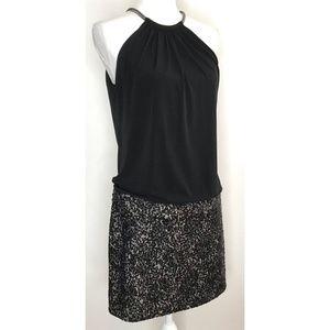 Jessica Simpson Black Blouson Club Sequin Dress